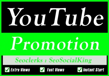 Organic YouTube Video Promotion Seo marketing