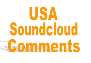 Give you 50 USA Soundcloud comments