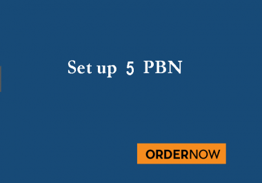 will setup your Five pbn niche websites Optimized for 2019
