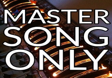 Master your song with the Best Quality in just 24hrs