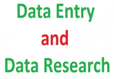 Data entry operator and data research
