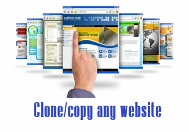 develop a clone of any website