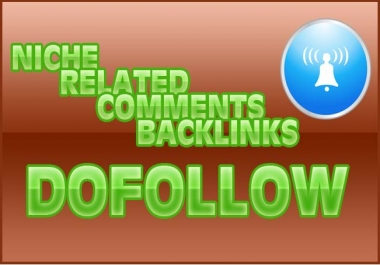 5 niche dofollow comments backlinks