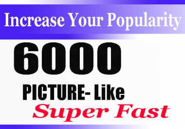 High Quality 6000+ Social Pictures Promotion Instantly start and Real