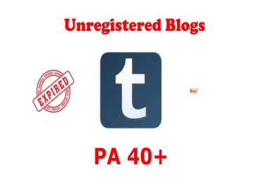 Provide 10 Unregistered Expired Tumblr Blogs From PA 40 Plus