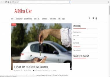Publish Guest post on high Authority Auto Blog