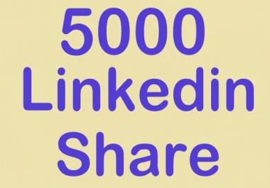 build 5000 linkedin share
