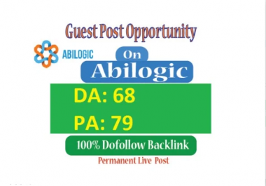 Permanent Guest post on Abilogic DA68 With Dofollow Link