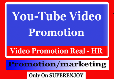 YouTube Video Promotion with marketing