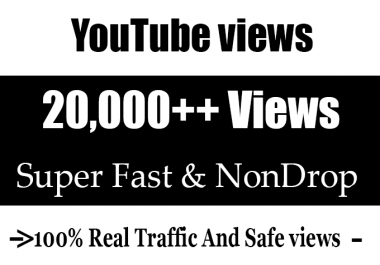 20,000 + 20k  Real YouTube Views with 200 Likes  and 20 Comment