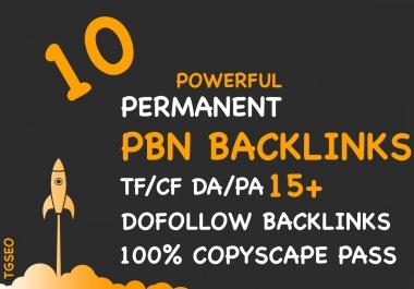 Skyrocket Your SERP 10 Powerful High TF/CF DA/PA Homepage PBN Backlinks
