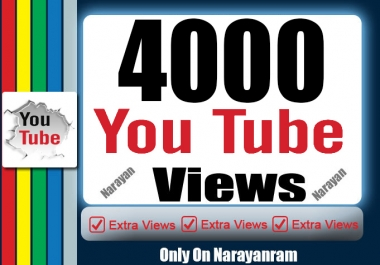 4000 High Quality Views Fully Safe Instant Start Lifetime Guarantee