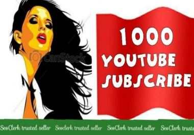 1000 Youtube Subs-cribers Never drop Safe channel Super fast complete