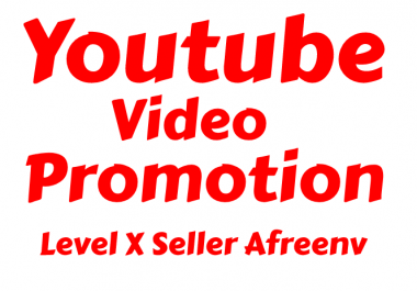 HIGH QUALITY YOUTUBE VIDEO PROMOTION 100k