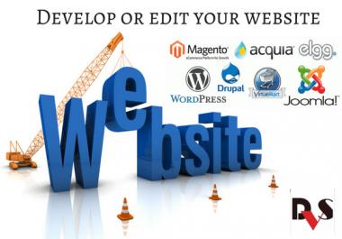 Develop and Edit any Platform website (Wordpress, drupal, elgg, magento)