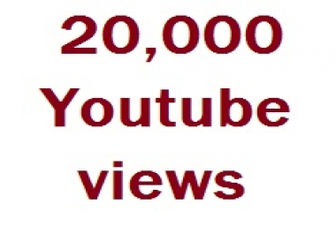 Give you 20000+YouTube views non drop very fast delivery