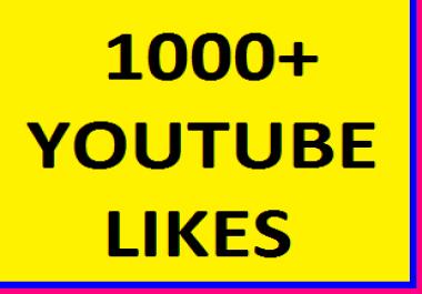 1000+YOUTUBE VIDEO LIKES NON DROP GUARANTEED