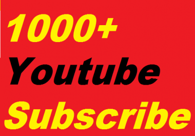 1000+YouTube Subscribers Non drop Manually only