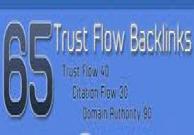 65 High Trust And Citation Flow Backlinks On High DA