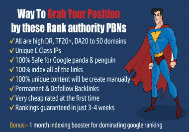 50 High Authority PBN Backlinks, Grab Your Position on Google 1st Page