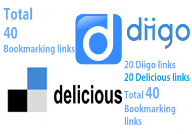 40 high page bookmarking links diigo or del.icio.us