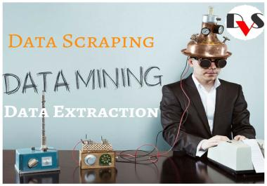 we Do web scraping, Data Mining, Data extraction job
