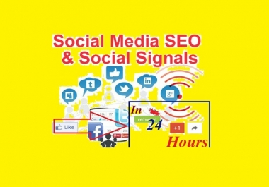 provide you 10,000 social signals From best top 5 social media sites