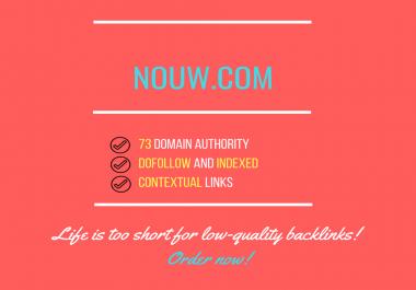 Do Publish Guest Post On Nouw com Da 73 Dofollow Backlink