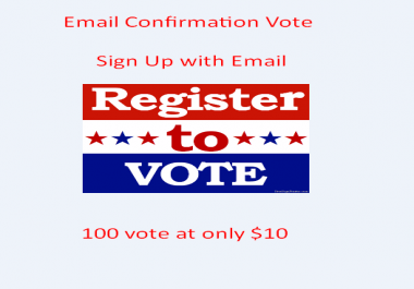 Email Confirmation Vote on your online contest