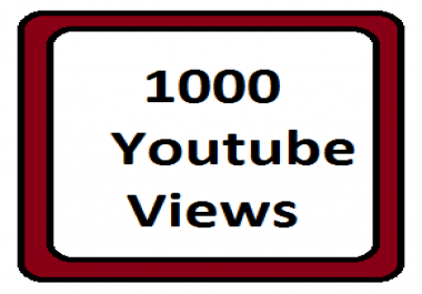 Exclusive offer 1000 +YouTube views non drop 1- 30 hours order completed