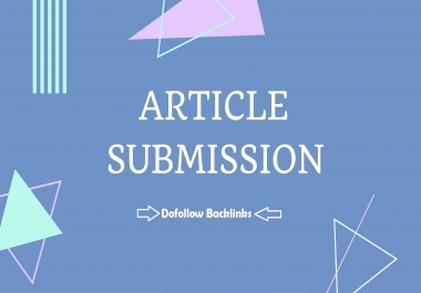 20 Article Submission Dofollow Backlinks