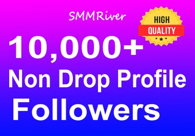 Add 10,000+ Profile Followers Real High Quality and Non Drop