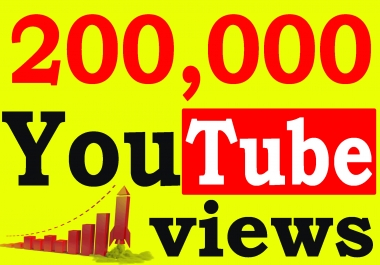 Fast 200,000+ Adsense Safe HQ Retention 99% YouTube Views Non Drop