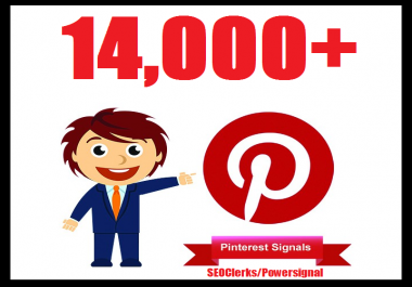 Bumper offer 14,000+ Pinterest USA Social Signals Life Time Benefit To Skyrocket Your Website SEO Traffic & Shares Bookmarking & Affiliate Marketing & Business Promotion Google Ranking