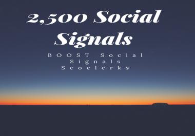 2,500 Social Signals Plus Bonus After Order