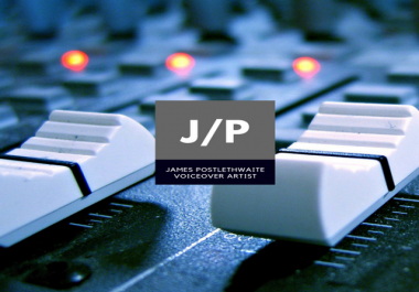 A professional, high-quality voiceover for your next project