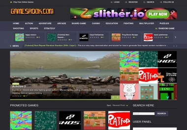Automated Wordpress Games Website with 4000 games - Turnkey Profitable Site