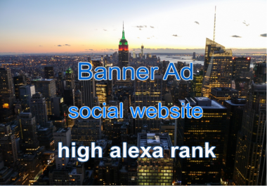 Social Website Banner 728x90 for 30 days