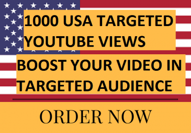 provide 1000 USA youtube video boost