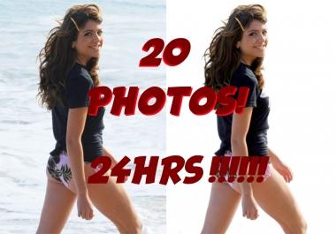 WILL REMOVE BACKROUND ON 20 PHOTOS! 24HR