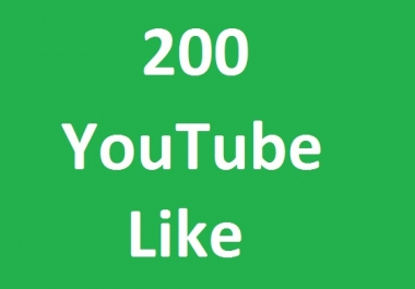 200  YouTube like Very fast adding your video for promotion