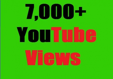 Safe 7,000+ HR YouTube Views Non Drop Refill Guaranteed and very fast in completed  just