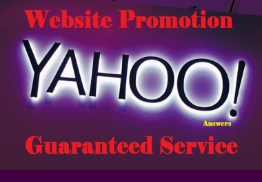 Boost your website with 30 High Quality Yahoo Answer from  Level 3  Yahoo Answer With URL