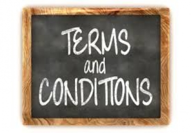 Professionally written terms and conditions up to 1000 words for website page content