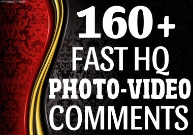 Instant Start 160+ HQ Comments NON DROP on your Pictures For Popularity your Social Media