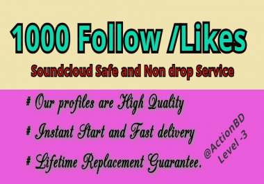 Buy 1000 Soundcloud  Real looking profiles followers Or Likes Or Reposts
