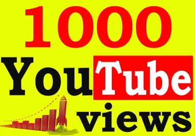Fast 1000+ High Retention 90 To 100 percent You-Tube Views