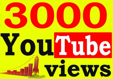 Fast 3000+ High Retention 90 To 100 percent YouTube Views