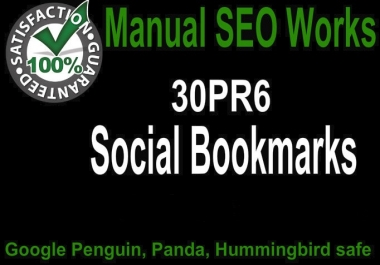 Instant manual bookmarking links from top 30 Social bookmarking sites
