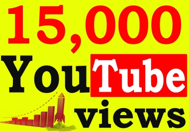 Fast 15,000+ High Retention 90 To 100 percent You-Tube Views